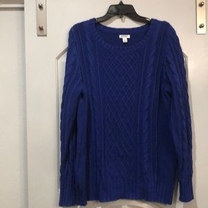 Beautiful royal blue cable knit sweater.